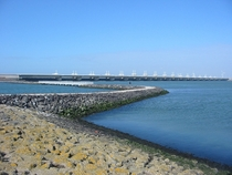 Oosterscheldekering sea wall in the Netherlands
