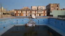 Open air swimming pool in Havana
