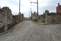 Oradour-sur-Glane a French village that was torn down by the Nazis they also massacred the population