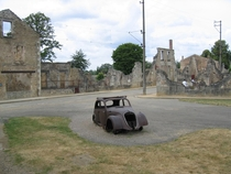 Oradour-sur-Glane France Abandoned after a massacre by German troops during WW Now a museum