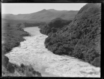 Orakei Korako valley on the Waikato river New Zealand This valley is now under a hydroelectric lake Taken by Leo White in