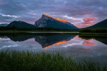 Orange Kiss on Mount Rundle Banff National Park Canada