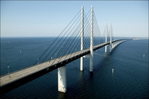 Oresund Bridge from Denmark to Sweden