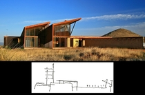 Original architectural sketch under the finished product - Narofsky modern home AZ