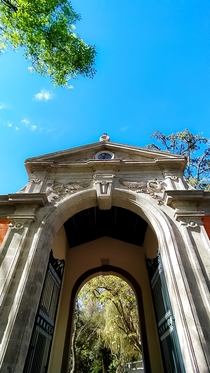 Original entrance for the second military college on the Chapultepec Castle Mexico City Today is a Sites Museum and the place where I work