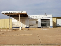 Originally a gas station Hasnt been a body shop for a while now Lubbock TX