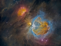Orion Nebula HDR in Hubble Palette