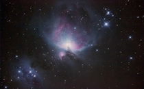 Orion Nebula taken from Landers California for my Astrophotography Class  After stacking and color correction