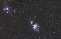 Orion Region From left to right Flame nebula Horsehead nebula Running man nebula and Orion nebula D Sigma - Ioptron Skytracker mm at ISO   s light frames  s dark frames Stacked in Deepskystacker and edited in Pixinsight and Lightroom Stoked on how it came