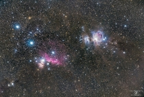 Orion Running Man Horsehead and Flame Nebula at mm focal length