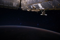 Orions Belt Rises Through the Atmosphere