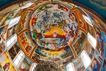 Orthodox Cathedrals dome interior Addis Ababa Ethiopia  last one