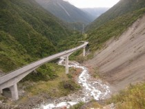 Otira Viaduct near Arthurs Pass National Park New Zealand