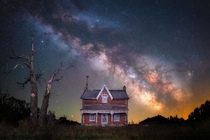 Our Milky Way over an old homestead in Ontario Canada