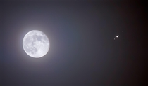 Our moon with Jupiter and  if its moons