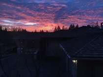 Our view from my house was crazy beautiful