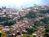 Ouro Preto Brazil which was one of the richest cities in the world in the th century due to its gold mines