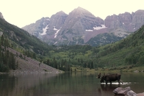 Out for a drink in September at Maroon Bells CO