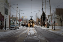 Out Of Place Commuter Rail - Michigan City Indiana -
