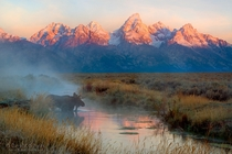 Out of the Mist - Grand Teton NP really is gorgeous  by David C Schultz x-post rUnitedStatesofAmerica