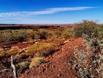 Outback Australia is so beautiful and nothing man-made for hundreds of km taken near Panawonica Western Australia