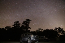 Outer bands of the Milky Way and faint Zodiacal Light at Stephen C Foster State Park this weekend
