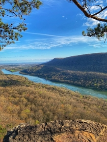 Outlook over the Tennessee River along the start of the Appalachian Trail Chattanooga TN