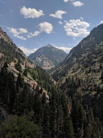 Outside of Ouray CO on US hwy