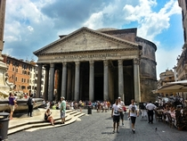 Outside the Pantheon Rome