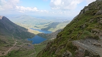Outstanding view from half way up the pyg track on Snowden