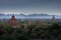 Over  ancient temples dot the Myanmar landscape at the site of this famed archeological site Photo by Gzooh