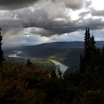 Over looking the Fraser River outside Prince George BC OCx