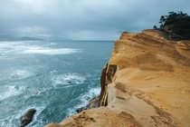 Over the coast at Cape Kiwanda OR