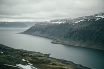 Overcast days in the West Fjords Iceland