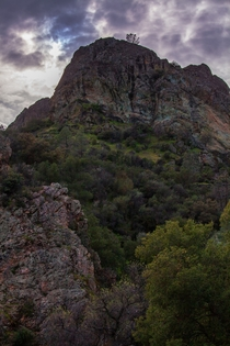 Overcast sky at Pinnacles NP CA
