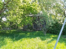 Overgrown abandoned home near Highway  outside of Le Sueur Minnesota