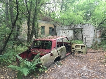 Overgrown village in the Chernobyl Exclusion Zone