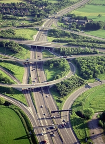 Overhead View of Highway Interchange