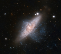 Overlapping galaxies NGC