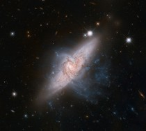 Overlapping Galaxies NGC  by Hubble Space Telescope
