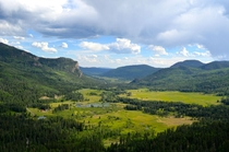 Overlook west of Wolf Creek Pass in Colorado  by WalkingWestward