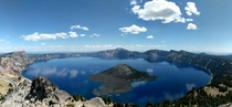Overlooking the deepest lake in the US from Watchman Peak Crater Lake Oregon