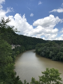 Overlooking the Kentucky River at Raven Run Nature Sanctuary Lexington KY