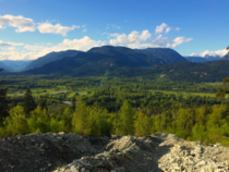 Overlooking the lush valley of Pemberton BC