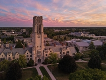 Overlooking University Hall at the University of Toledo
