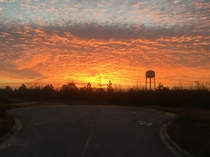 Overslept and caught this sunrise on my way to work instead of driving in in the dark South of Columbia SC