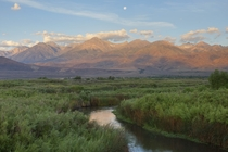 Owens River and the Sierra Nevada Mountains near Zurich CA