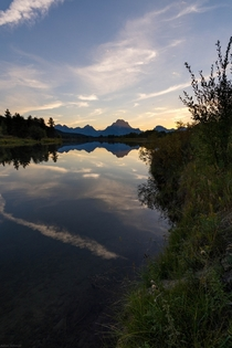 Oxbow Bend Sunset Grand Teton National Park OC