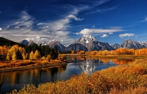 Oxbow Bend WY  by Gerald Neufeld