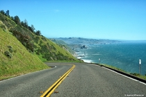 Pacific Coast Highway near Jenner California